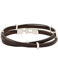 Zadeh | Brown Eitan Wrap Bracelet for Men | Lyst