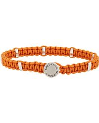 Zadeh | Orange Macramé Bracelet for Men | Lyst