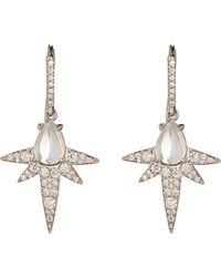 Finn | Metallic Moonstone Spike Earrings | Lyst