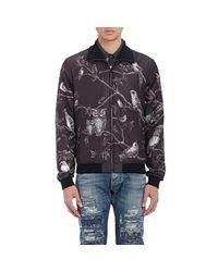 Dolce & Gabbana - Gray Men's Bird-print Bomber Jacket for Men - Lyst