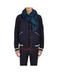 Barneys New York - Green Cashmere Twill Scarf for Men - Lyst