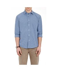 Hartford - Blue Men's Checked Poplin Shirt for Men - Lyst