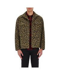 Saint Laurent - Green Men's Leopard-print Jacket for Men - Lyst
