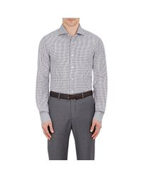 Isaia - Gray Plaid Voile Shirt for Men - Lyst