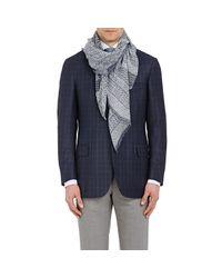 Barneys New York - Blue Men's Mixed-print Gauze Scarf for Men - Lyst