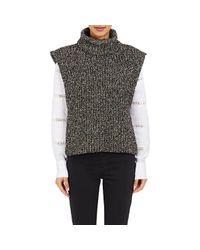 Étoile Isabel Marant - Gray Sleeveless Turtleneck Sweater - Lyst