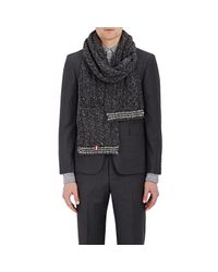 Thom Browne - Gray Cable-knit Scarf for Men - Lyst