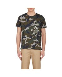 Valentino - Green Graphic Camouflage T-shirt for Men - Lyst