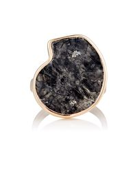 Dezso by Sara Beltran - Multicolor Fossilized Ammonite & Rose Gold Ring Size Na - Lyst