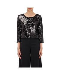 Loyd/Ford - Black Sequin-embellished Crop Sweater - Lyst