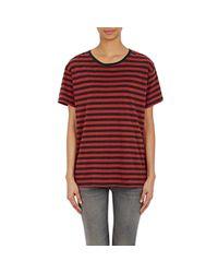 R13 - Black Striped T-shirt - Lyst