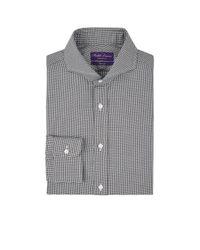 Ralph Lauren Purple Label - Black Keaton Houndstooth Cotton Dress Shirt for Men - Lyst