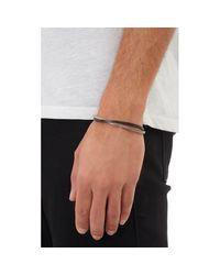 Zadeh Metallic Leather & Silver Cuff for men