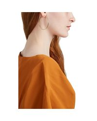 Jennifer Meyer Metallic Hammered Medium Hoop Earrings