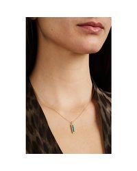 Jennifer Meyer Metallic Mixed-gemstone Bar Pendant Necklace