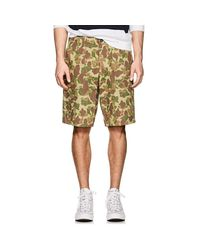 Rag & Bone - Natural Camouflage Cotton Twill Field Shorts for Men - Lyst
