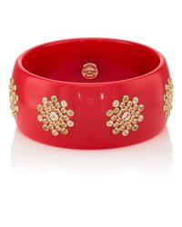 Mark Davis Red Bakelite & Mixed-gemstone Bangle