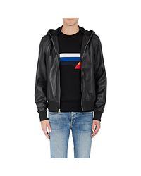 Rag & Bone - Black Christopher Leather Hooded Bomber Jacket for Men - Lyst