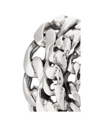 Emanuele Bicocchi Metallic Sterling Silver Curb-chain Ring for men