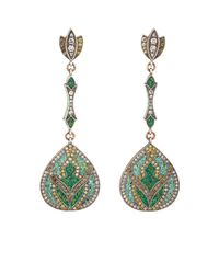 Sevan Biçakci - Green Lotus Drop Earrings - Lyst