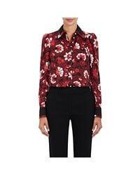 Altuzarra - Red Marlowe Floral Silk Blouse - Lyst