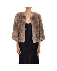 Barneys New York - Multicolor Jagger Rabbit Fur Jacket - Lyst