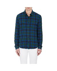 Vince - Green Plaid Cotton for Men - Lyst