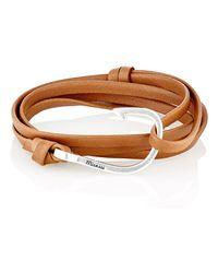 Miansai - Metallic Hook On Leather Wrap Bracelet for Men - Lyst