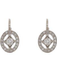 Cathy Waterman - Metallic Oval Frame Drop Earrings - Lyst