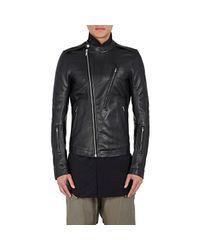 Rick Owens   Black Cyclops Leather Biker Moto Jacket for Men   Lyst