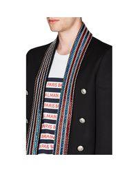 Balmain Black Embellished Crop Open-front Sportcoat for men