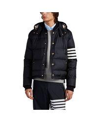 Thom Browne Blue Down Puffer Coat for men