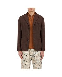 Barena | Brown Linen-blend Three | Lyst