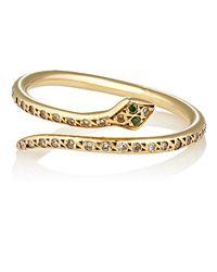 Ileana Makri - Metallic Small Python Ring - Lyst