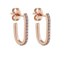 Carbon & Hyde - Metallic Mini Pin Hoop Earrings - Lyst
