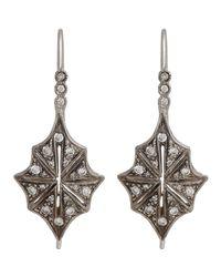 Cathy Waterman - Metallic Star Drop Earrings - Lyst