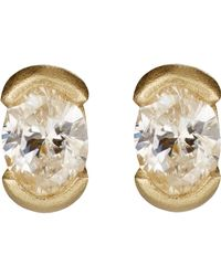 Tate Metallic Oval Stud Earrings
