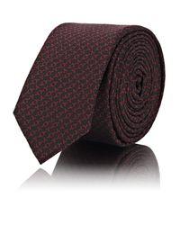 Saint Laurent - Black y Jacquard Silk Necktie for Men - Lyst