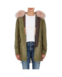 Mr & Mrs Italy - Green Fur-trimmed Insulated Midi-parka - Lyst