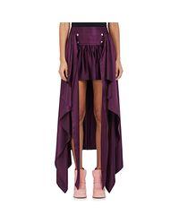 Sies Marjan Purple Megan Silk High-low Skirt