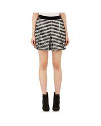 Proenza Schouler - Black Fil Coupé Basket-weave Tweed Shorts - Lyst