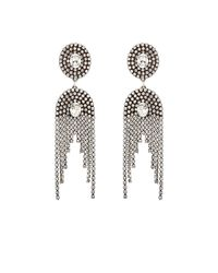 DANNIJO | Metallic Paltrow Crystal Fringe Earrings | Lyst
