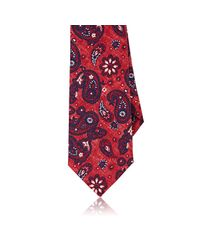 Isaia | Red Paisley Necktie for Men | Lyst