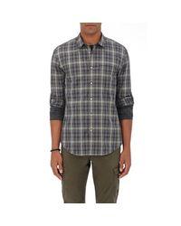 John Varvatos   Gray Checked Cotton Dress Shirt for Men   Lyst