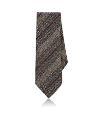 Barneys New York | Gray Striped Silk for Men | Lyst