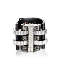 Lanvin | Black Embellished Wide | Lyst