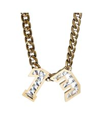 Lanvin | Metallic Swarovski Pendant Necklace | Lyst