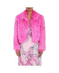 Sies Marjan Pink Muffy Alpaca Fur Bomber Jacket