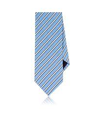 Barneys New York Blue Plain-weave Silk-cotton Necktie for men