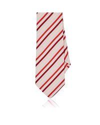 Etro - Pink Striped Silk Necktie for Men - Lyst
